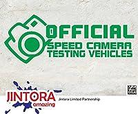 JINTORA ステッカー/カーステッカー - Official speed camera - 公式スピードカメラ - 160x50mm - JDM/Die cut - 車/ウィンドウ/ラップトップ/ウィンドウ- グリーン