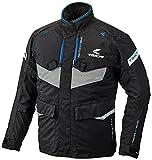 RSタイチ(アールエスタイチ)バイクジャケット ブラック/ブルー (サイズ:XL) DRYMASTER FRONTIER(フロンティア)オールシーズンジャケット RSJ709