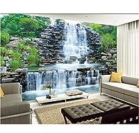 Wuyyii 3D写真の壁紙滝風景風景の背景壁の絵壁の3Dのための装飾的な壁紙