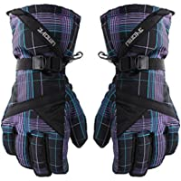 メンズスポーツスキー手袋防風防水/雪/サイクリンググローブストライプブラック
