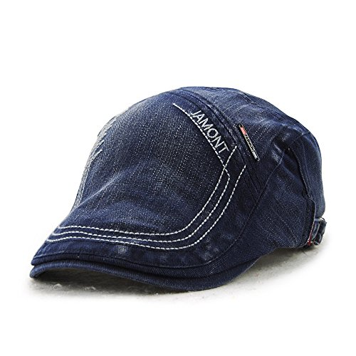 ネームブルー 帽子 キャスケットハンチング帽 レディース メンズ 調節可 カジュアル/旅行 E33 (6カラー)(ブルー)