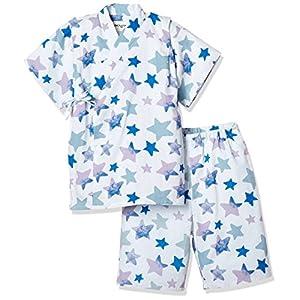 [タキヒヨー] 星柄甚平 ボーイズ 342447202 オフホワイト 日本 130 (日本サイズ130 相当)