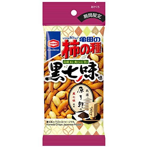 亀田製菓 亀田の柿の種 黒七味味 X1箱 (10袋)