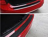 黒い車のゴム製リアバンパーガードプロテクタートリムカバー、車のステッカー