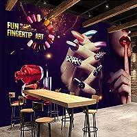 Xueshao 3D壁の壁画壁紙ヴィンテージメイクネイルショップポスター写真の背景壁紙装飾アート壁画壁画-400X280Cm