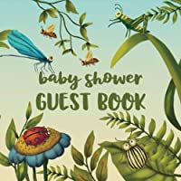 "Baby Shower Guest Book: Notebook for 70 Guests with Gift Log and Memory and Photo Pages For Your Photos  Spring Nature Garden Bugs (GB 8.5"" x 8.5"" 108 pages)"