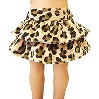 Leopard Print Ruffle Skirt for 18
