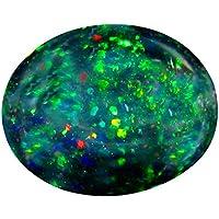 ブラックオパール ルースストーン 3.35 ct Oval Cabochon Shape (12 x 10 mm) Flashing Welo Ethiopian Black Opal Loose Gemstone