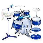 ドラム・パーカッション 子供のドラムセットジャズドラムセット幼児ドラムセット初心者楽器玩具赤ちゃんビート楽器男性と女性が適用されます (Color : Blue, Size : 70*48*70cm)