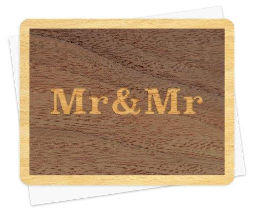Mr。and Mr。木製おめでとうございますカードby Night Owl Paper Goods