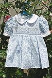 ドレス スモッキングドレス ブルーフラワー(ブルマ付き)