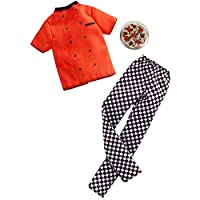 ​Barbie Clothes: Career Outfits for Ken Doll, Pizza Chef Look with Pizza, Gift for 3 to 8 Year Olds