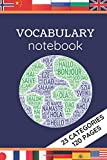 Vocabulary Notebook: Lined pages with 2 columns | Perfect for learning new language