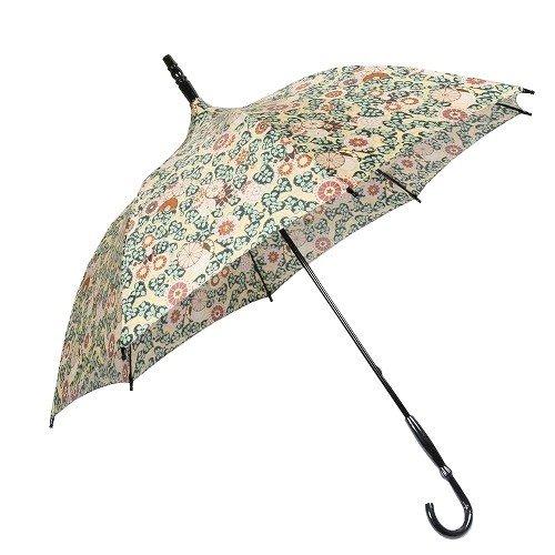 【ANNA SUI】アナスイ 日本製 リーフ&フラワー 婦人長傘(雨傘) 黄色