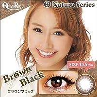 カラコン 度あり 1箱1枚入り QuoRe Natura Series/ソブレ/119218 14.5mm【BrownBlack--7.00】