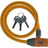 J&C(ジェイアンドシー) ワイヤーロック [JC-020W] φ10mm×600mm オレンジ
