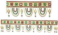 Amba HandicraftドアHanging Toran Window Valanceドリームキャッチャーホーム飾りInterior供養bandanwaar Diwali Gift FestivalカラフルインディアンHandicraft Love。toran193