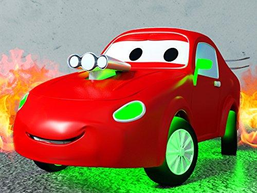 機嫌の悪いフラビー道路にはまる&レーシングカーのジェリーそして, レッカー車のトム, (子供向け)車&トラックの 建設アニメ