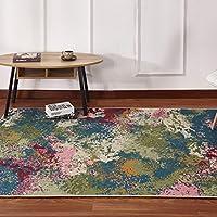 カーペット 現代の最小限のビンテージ抽象的な幾何学模様の居間コーヒーテーブルカーペット綿ラグ (色 : 01, サイズ さいず : 120cm*160cm)