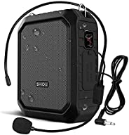 Bluetooth Voice Amplifier Personal Voice Amplifier 18W with Wired Microphone Headset Portable Waterproof Bluet