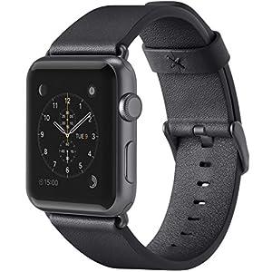 belkin Apple Watch用 レザーバンド 42mm イタリアンレザー 牛革[国内正規品]ブラック F8W732btC00