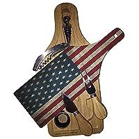 アメリカ国旗アートワイン&チーズセットガラスカッティングボード