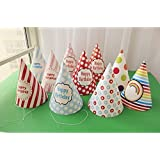 lovely paper cone birthday party hats for Children and Adults,Birthday party supplies 10 pcs