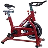 Best Fitness Chain Drive Indoor Cycling Bike, Red