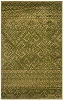 Safavieh Adirondack Collection ADR107D緑色と暗緑色の錆びたボヘミアンエリアラグ(3 '×5')