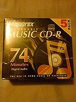 Memorex 700MB / 80-minute 24x CD - Rメディア( 5- Pack )