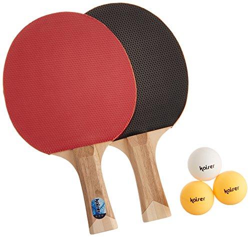 カイザー(kaiser) 卓球 ラケット セット D シェイクハンド KW-016 ボール付 ケース付 練習用