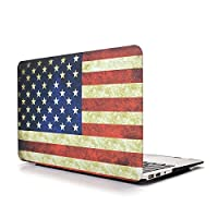 MacBook Air 13ケース(A1369/A1466) - L2W 2 in 1 Rubberized Unique Pattern MacBook Air 13(US Flag)用ハードシェルケースカバー