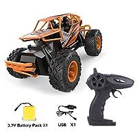 LH-C010 2.4GHz強力パワー合金RCカーオフロードロッククライミングクローラー自動車両おもちゃ車用子供ギフト-オレンジ-オレンジ