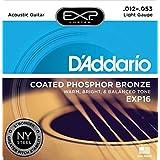 D'Addario ダダリオ アコースティックギター弦 EXPコーティング フォスファーブロンズ Light .012-.053 EXP16 【国内正規品】