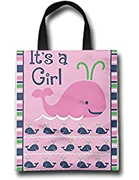 WACRDG Shopping Handle Bags,It's A Girl Personalized Tote Bag