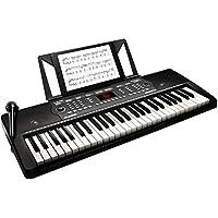 Alesis 電子キーボード 54鍵盤【オンライン無料レッスン付属、内蔵スピーカー、マイク、譜面台、電源[付属ACアダプター又は電池駆動]、300音色/300内蔵リズム/40デモソング】Melody 54