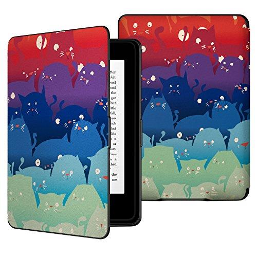 ATiC Amazon NEW-Kindle Paperwhite専用スーパー軽量薄型ケース (オートスリープ機能付き 2012/ 2013/ 2015/2016/マンガモデル適応) 可愛猫
