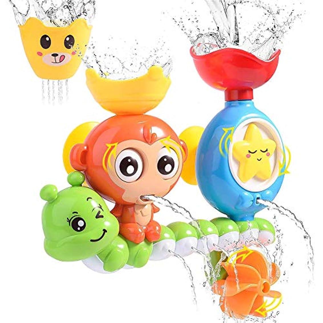 暴動樹木コアベビーバスのおもちゃ、バスタブのおもちゃ滝の水ステーションウォーターバスで遊んでいる子供たちシャワースプリンクラー水赤ちゃんのバスタブのおもちゃ,A