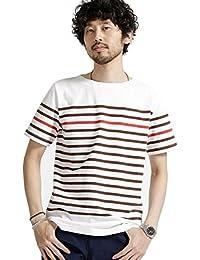 ナノ・ユニバース(nano・universe) 米綿バスクボーダーTシャツ