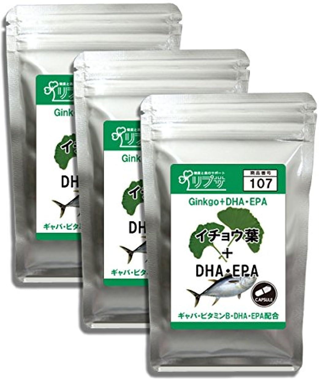 許可する電話するインクイチョウ葉&DHA?EPA 約1か月分×3袋 C-107-3