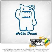 こんにちはドモ Hello Domo 11cm x 10cm 15色 - ネオン+クロム! ステッカービニールオートバイ