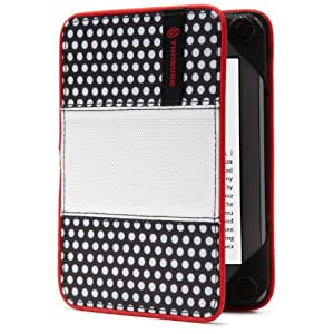 Timbuk2 フリップスタージャケットカバー(軽量かつ耐久性のある保護機能つき)、ブラック&ホワイトポルカドッツ(Kindle Paperwhite専用)