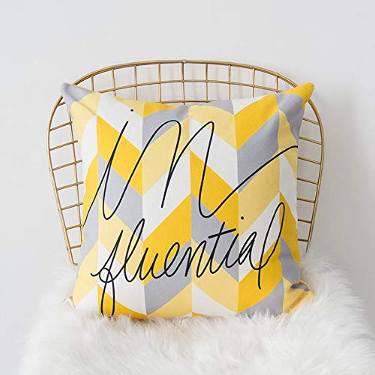陸軍あそこ軽減LIFE 黄色グレー枕北欧スタイル黄色ヘラジカ幾何枕リビングルームのインテリアソファクッション Cojines 装飾良質 クッション 椅子