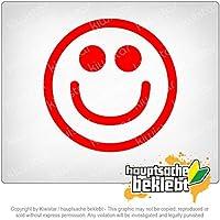 グランスマイルフェイス Grin Smiley Face 11cm x 11cm 15色 - ネオン+クロム! ステッカービニールオートバイ