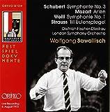 シューベルト:交響曲 第3番 ニ長調/モーツァルト・アリア/ヴァイル:交響曲 第1番/シュトラウス:ティル・オイレンシュピーゲル