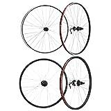 cycledesign(サイクルデザイン) ホイール ホイール 29 1.75-2.125 リア FV 8/9S V-ブレーキ エンド135 MTB用 ブラック 829219