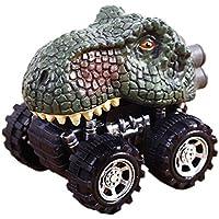 hujinlderファッション恐竜モデルカーおもちゃPull Back Kid Childrenギフト