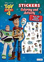 Toy Story Bendon 45773 4 Puffy Sticker Coloring & Activity Book [並行輸入品]