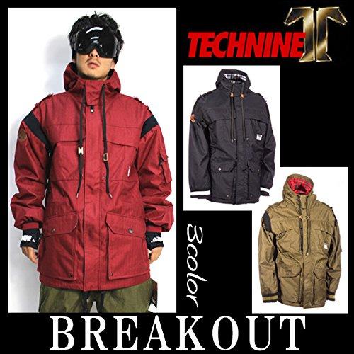 14-15 TECHNINE T9 / テックナイン SNORKLE JACKET メンズ ウェア ジャケット スノーボード XL BURGUNDY