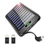 TSSIBE モバイルバッテリー ソーラーチャージャー 16000mAh